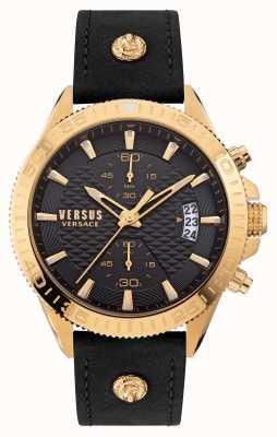 Versus Versace 对比格里菲斯黑色皮表带 VSPZZ0221
