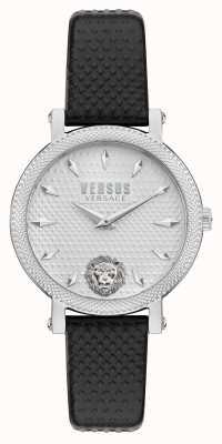 Versus Versace 对比 weho 黑色皮表带手表 VSPZX0121