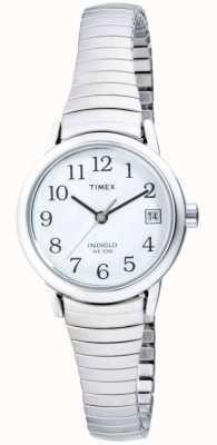 Timex 女士不锈钢可扩展手表 T2H371